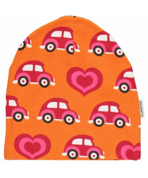 Maxomorra Beanie Hat Cars and Hearts